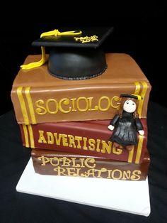 Cookie Jar Bakeshop I Custom Cakes I Book Themed Graduation Cake I Graduation Cake with Cap & Tassel