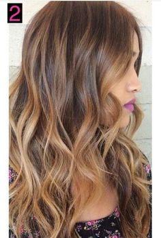 Brown with Honey Blonde Highlights