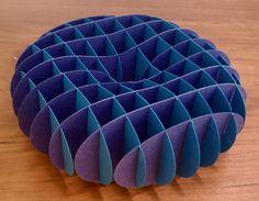Sliceform cassinian solid of revolution torus