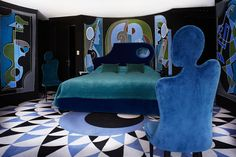 Paris's Vibrant (And Surrealist) Hotel Montana - The Hotel Montana's suites are…