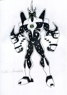 Ben a big alien. a fusion between alien x and way big. Ben 10 Comics, Dc Comics, Ben 10 Ultimate Alien, Ben 10 Alien Force, Ben 10 Omniverse, Alien Design, Black Anime Characters, Alien Creatures, Cartoon Sketches