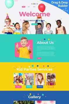 Alot of images on the homepage and alot of color! Design Thinking, Pag Web, Kids Sites, Webdesign Inspiration, Design Innovation, Banner Design Inspiration, Kids Web, Minimal Web Design, Clinic Design