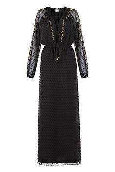 EASY WAIST MAXI DRESS IN SWISS DOT, $79.99 via StyleListCanada