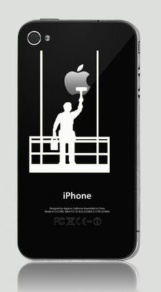 iPhone 4/ 4S & iPhone 3G Funny Humor Decal Sticker Apple Painter