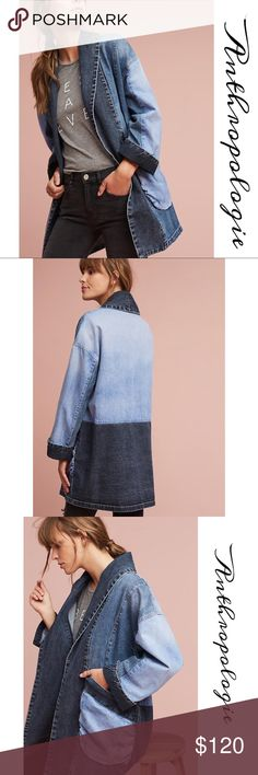"""Anthropologie Denim Kimono Jacket A tonal denim Kimono Jacket in an open front silhouette for an on- Trend look we love will be your all time favorite jacket. An amazing piece to add to your collection, super chic and cool at the same time. Length :35"""", runs oversized Anthropologie Jackets & Coats"""