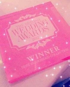 OMG we won!!! Best bridesmaid collection! Thank you so much to @weddingideas and to all of you gorgeous people who voted for us. We love every one of our lovely clients and feel so privileged to be a part of your special day.