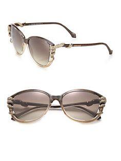 Roberto Cavalli - Swarovski Crystal Snake Injected Sunglasses