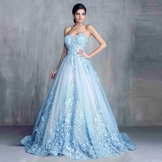 Cheap blue wedding gowns, Buy Quality bridal gown directly from China wedding gowns Suppliers: Vestidos de Noivas Light Blue Wedding Gown 2017 Lace and Flower Princess Wedding Dresses Sweetheart Bridal Gown Blue Wedding Gowns, Sweetheart Wedding Dress, Colored Wedding Dresses, Gown Wedding, Light Blue Wedding Dress, Tulle Wedding, Wedding Venues, White Weddings, Indian Weddings