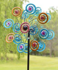 Another great find on #zulily! Jeweled Spiral Flower Spinner by Plow & Hearth #zulilyfinds