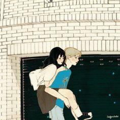 images for anime art Aesthetic Art, Aesthetic Anime, Korean Aesthetic, Couple Illustration, Illustration Art, Anime Couples, Cute Couples, Liz Clements, Cute Couple Art