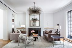 Modern Living Room in New York, NY by Rees Roberts & Partners