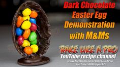 Easter Egg Decoration with M&Ms Recipe By BakeLikeAPro Easter Recipes, Holiday Recipes, Great Recipes, Best Chocolate, Chocolate Recipes, M&ms Recipe, Dark Chocolate Easter Eggs, Chocolate Decorations, Best Food Ever