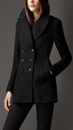 Wool Cashmere Pea Coat | Burberry