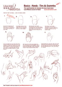 LearnManga Basics Hands Part 1 by Naschi.deviantart.com on @DeviantArt
