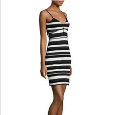 I just discovered this while shopping on Poshmark: French Connection Striped Bodycon DressNWT. Check it out!  Size: 8