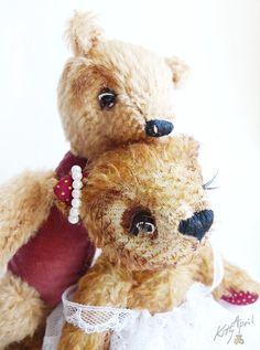Wedding Teddy Bears Couple Mr and Mrs by KittyAprilHandmade,