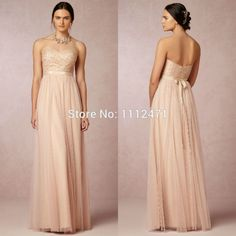 Cheap Bridesmaid Dresses, Buy Directly from China Suppliers:	  	Long Sweetheart A-line Tulle Lace Blush Bridesmaid Dresses LS08149	  	  	  	Picture of Long Swee