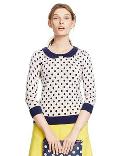 Spot Collar Sweater
