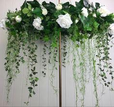 Wedding Flower Arrangements, White Roses, Wedding Decorations, Flowers, Plants, Wedding Floral Arrangements, Floral, Plant, Royal Icing Flowers