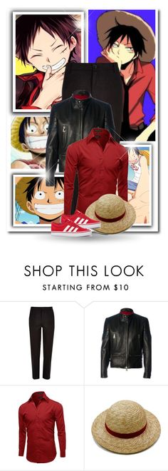 """Monkey D. Luffy"" by bambolinadicarta ❤ liked on Polyvore featuring River Island, Al Duca d'Aosta, adidas, men's fashion, menswear, onepiece, Captain, monkeydluffy and LuffyCrew"