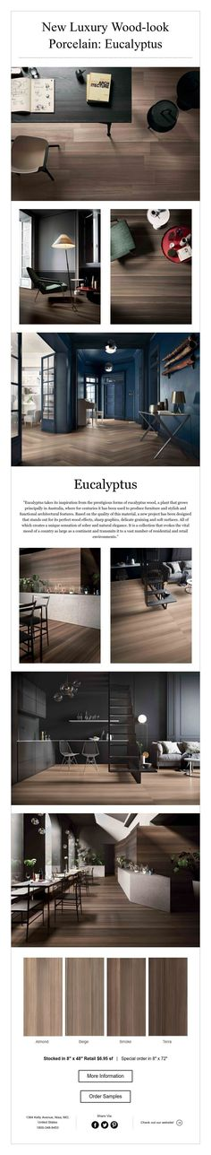 New Luxury Wood-look Porcelain: Eucalyptus Wood Tiles, Architectural Features, Porcelain, Luxury, Architecture, Home, Design, Porcelain Ceramics, Ad Home