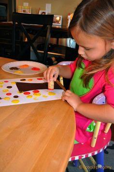 Kid Craft: Fall Cork Tree Painting