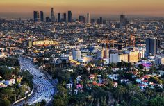 Mulholland Drive offers incredible views of the San Fernando Valley and Los Angeles California Dreamin', Los Angeles California, Echo Park, Santa Monica, Mullholland Drive, Places Around The World, Around The Worlds, Grand Canyon, San Diego