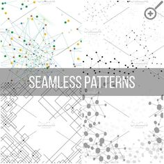 Molecular structure seamless pattern Graphics Molecular structure backgrounds, seamless patterns. Business templates for webdesign, science design by VectorShop