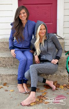Ruby Bloom Boutique — Sweatsuit - Blue, I want these!!!!