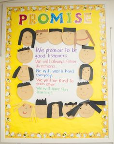 Mrs. Ricca's Kindergarten: Back to School Cute class promise idea!