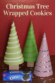 Christmas Tree Wrapped Cookies are perfect for neighbor gifts, teacher gifts, co-worker gifts, or just because gifts. And they double as Christmas Decor. #GiftDeliciously #ad #CollectiveBias