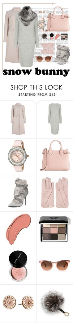 """Snow bunny chic"" by magamka ❤ liked on Polyvore featuring M&S Collection, Warehouse, Ted Baker, Burberry, Charles Jourdan, Mario Portolano, Lady Grey, NYX, Bobbi Brown Cosmetics and Etnia Barcelona"