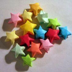 Little origami stars.