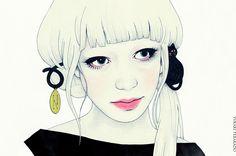 Amazing illustration works by Japanese illustrator Yukari Terakado. Yukari's work is mainly on Design, Fashion, Illustrations. Beauty Illustration, Cute Illustration, Wow Art, Portrait Art, Portraits, Asian Art, Female Art, Illustrations Posters, Illustrators