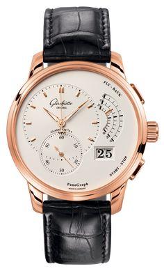 44a8b8ed2b3 Glashütte Original PanoGraph Cronógrafo Flyback - 16103251504   Boutique  dos Relógios Acessórios Masculinos