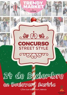 ¡Prepara tu mejor look navideño! Mañana, miércoles 24 salimos a la calle en tu búsqueda, para nuestro #concurso de #streetstyle. ¡Nos vemos en las calles de Valencia, fashionlover!