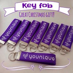 Younique key fob on Etsy, $8.50