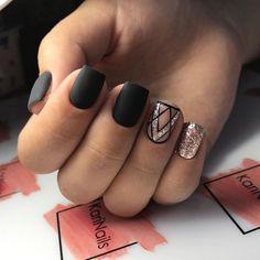 135 catchy winter nail designs ideas that you must try - page 8 Nail Design Spring, Winter Nail Designs, Cute Nail Designs, Shellac Nails, Nail Polish, Gel Nail, Uv Gel, Winter Nails, Summer Nails