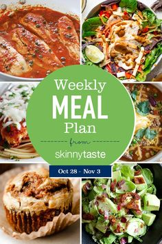Healthy meal planning 86412886587661636 - A free flexible weight loss meal plan including breakfast, lunch and dinner and a shopping list. All recipes include calories and WW SmartPoints®. Source by skinnytaste Weight Loss Meal Plan, Weight Watchers Meals, Nutribullet, Whole Wheat Spaghetti, Grilled Chicken Salad, Brussel Sprout Salad, Free Meal Plans, Skinnytaste, Calories