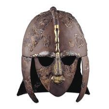 Sutton Hoo ship-burial helmet  England, early 7th century AD    The helmet has panels decorated with interlacing Style II animal ornament and heroic scenes, motifs that were common in the Germanic world at this time.
