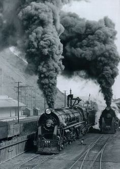 New Zealand Railways Steam Locomotives blasting out clouds of smoke
