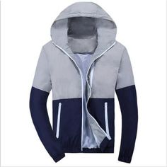 Item Type: Outerwear & Coats Outerwear Type: Jackets Gender: Men Clothing Length: Regular Cuff Style: Conventional Closure Type: Zipper Hooded: Yes Collar: Turn-down Collar Decoration: None Sleeve Sty