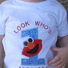 Elmo Personalized Appliqued First Birthday Shirt