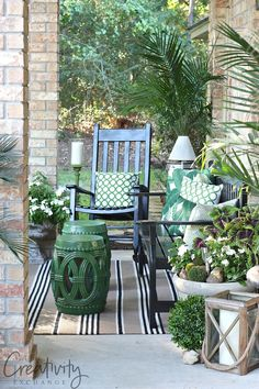 front porch refresh and tips for fluffing. The Creativity Exchange