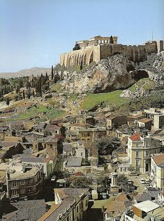 Athens in mid near Acropolis Attica Athens, Athens Greece, Acropolis Greece, Mykonos Greece, Crete Greece, Places To Travel, Places To See, Travel Destinations, Places Around The World
