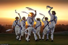 Morris men welcome the dawn on May Day / Beltane - the Celtic festival celebrating the coming of light, summer and fertility. Bank Holiday Friday, Early May Bank Holiday, Holiday Monday, Morris Dancing, Favourite Festival, May Days, Beltane, All Nature, May Flowers