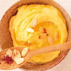 Kartoffelpüree mit Safran & Mandeln Rezept | Küchengötter