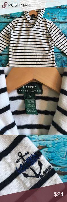 Lauren Ralph Lauren pullover hoodie size small Blue and white Lauren Ralph Lauren pullover hoodie. Size small.   Bin 17 Lauren Ralph Lauren Tops Sweatshirts & Hoodies