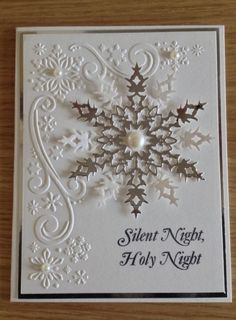 Image result for cardmaking ideas snow flake dies