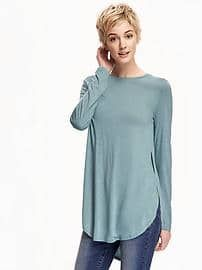 Relaxed Tulip Tunic Tee for Women